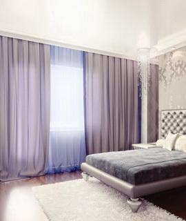 заказать пошив потолочных штор