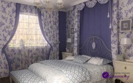 Дизайн штор для спальни в Казани