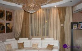заказать дизайн штор для зала в Казани