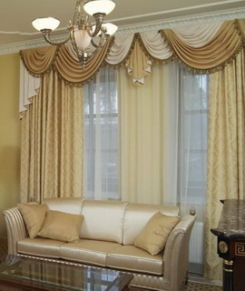 заказать пошив штор для зала